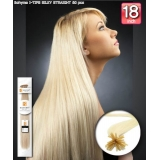 Bohyme Fusion 100% Remi Human Hair Weave, Silky Straight 18 inch I-Tip 30~35 pcs