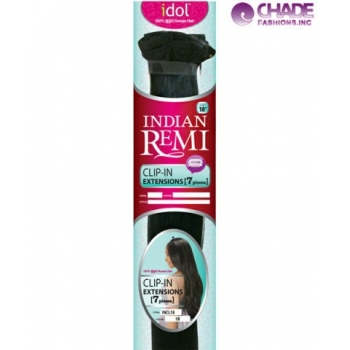 New Born Free Idol Indian Hair Clip In hair Extensions - INCL18 REMI CLIP IN