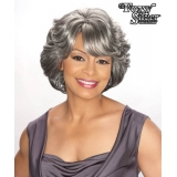 Foxy Silver Synthetic Wig - Cece