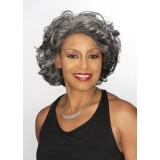 ALICIA FOXY SILVER, Synthetic 4cm Magic Lace Front Wig, , DARLENE