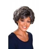 ALICIA FOXY SILVER, Monofilament Synthetic Wig, DOLORES
