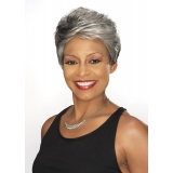 ALICIA FOXY SILVER, Synthetic 4cm Magic Lace Front Wig, , DORIAN