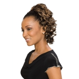 ALICIA CAREFREE, Synthetic Drawstring Ponytail, HAZEL D/S