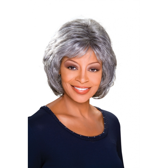Alicia Foxy Silver Monofilament Synthetic Wig Louise