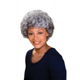 ALICIA FOXY SILVER, Monofilament Synthetic Wig, MAXINE