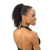 ALICIA CAREFREE, Synthetic Drawstring Ponytail, MINI-CRIMP D/S