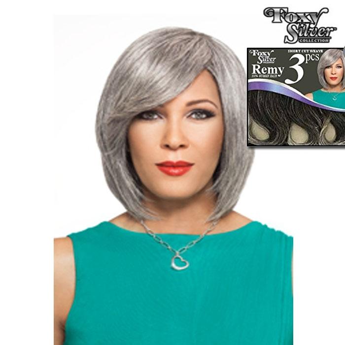 Foxy Silver Human Hair Sc Weave 3 Pcs Jamie