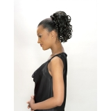 ALICIA CAREFREE, Synthetic Drawstring Ponytail, SUNFLOWER D/S