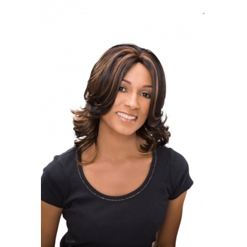 ALICIA CAREFREE, Monofilament Synthetic Half Wig, TISHA