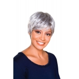 ALICIA FOXY SILVER, Monofilament Synthetic Wig, TRUDY