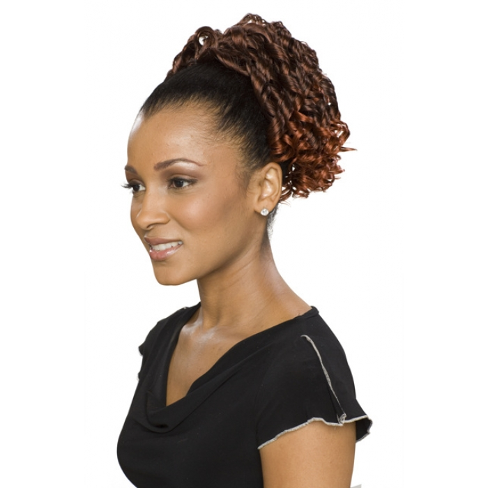 Alicia Carefree Synthetic Drawstring Ponytail Violet D S