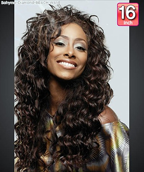 Bohyme Diamond BEACH WAVE 16 - Remi Human Hair Weave