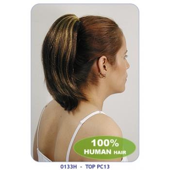 NEW BORN FREE 100% Human Hair Ponytail: TOP PC13/H