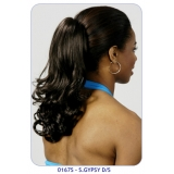 NEW BORN FREE Synthetic Drawstring Ponytail: 0167S GYPSY