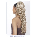 NEW BORN FREE Synthetic Drawstring Ponytail: 0203 L. GYPSY WAVE