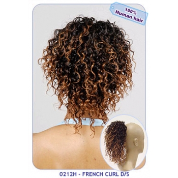 NEW BORN FREE 100% Human Hair Ponytail: 0212H FRENCH CURL D/S