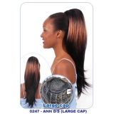 NEW BORN FREE Synthetic Drawstring Ponytail: 0247 ANN D/S (LARGE CAP)