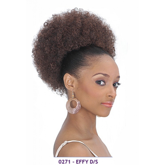 Human Hair Afro Puff Wig 68