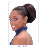 NEW BORN FREE Synthetic Drawstring Ponytail: 0280 EBONY D/S