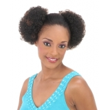 NEW BORN FREE Synthetic Drawstring Ponytail: 0290 TWIN MINI AFRO D/S