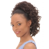 NEW BORN FREE Synthetic Drawstring Ponytail: 0297 IVORY D/S