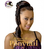 NEW BORN FREE Synthetic Drawstring Ponytail: 0323  FISHTAIL BRAID D/S 02