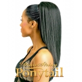"NEW BORN FREE Synthetic Drawstring Ponytail: 0327  STRAIGHT 14"" D/S"