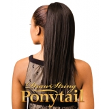 "NEW BORN FREE Synthetic Drawstring Ponytail: 0328  STRAIGHT 18"" D/S"