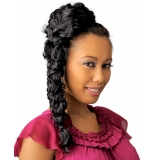 NEW BORN FREE Synthetic Drawstring Ponytail: 0331 LEE D/S (Braided)