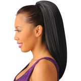 NEW BORN FREE Synthetic Drawstring Ponytail: 0332 CRIMPY D/S