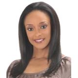 -NEW BORN FREE 100% Human Remi Hair half Wig: 0913H MAGENTA