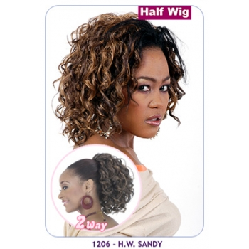NEW BORN FREE Demi Cap Synthetic Half Wig: 1206 SANDY