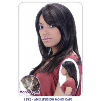 NEW BORN FREE Synthetic Wig: 1252 ANIS (FUSION MONO CAP)
