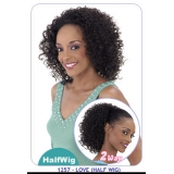 NEW BORN FREE Demi Cap Synthetic Half Wig: 1257 LOVE