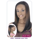 NEW BORN FREE Demi Cap Synthetic Half Wig: 13002 SUNSHINE
