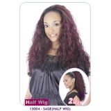 NEW BORN FREE Demi Cap Synthetic Half Wig: 13004 SAGE
