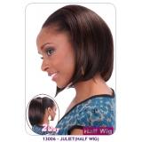 NEW BORN FREE Demi Cap Synthetic Half Wig: 13006 JULIET