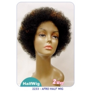 NEW BORN FREE Demi Cap Synthetic Half Wig: 2233 AFRO