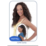 NEW BORN FREE Demi Cap Synthetic Half Wig: 3296 LUCKY