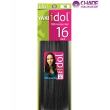 IDOL 100% Human Hair Yaki Weaving 16 inch