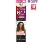 New Born Free Idol Indian Hair Weave Extensions - INW14S WET&WAVY (SUPER FRENCH) 14s