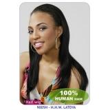 NEW BORN FREE 100% Human Hair Half Wig: H.H.W.LATOYA