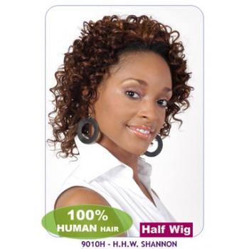-NEW BORN FREE 100% Human Hair Half Wig: 9010H SHANNON
