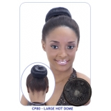 NEW BORN FREE Synthetic Drawstring Ponytail: CP80 HOT DOME PUFF (LARGE)