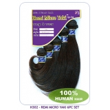 NEW BORN FREE 100% Human Hair weaving: H302 Remi Micro Yaki 6pc Set