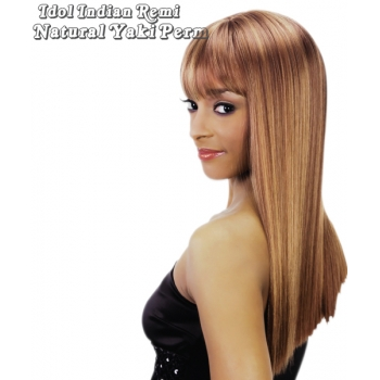 IDOL INDIAN 100% Human Remi Natural Yaki Perm Weave 10s