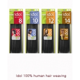 IDOL 100% Human Hair Yaki Weaving 10 inch