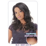 NEW BORN FREE Synthetic Magic Lace front Wig: ML22 (Hand tied)