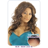 NEW BORN FREE Synthetic whole Magic Lace front Wig: ML46 (100% Hand Tied 100% Futura)