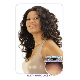 NEW BORN FREE Synthetic whole Magic Lace front Wig: ML47 (100% Hand Tied 100% Futura)